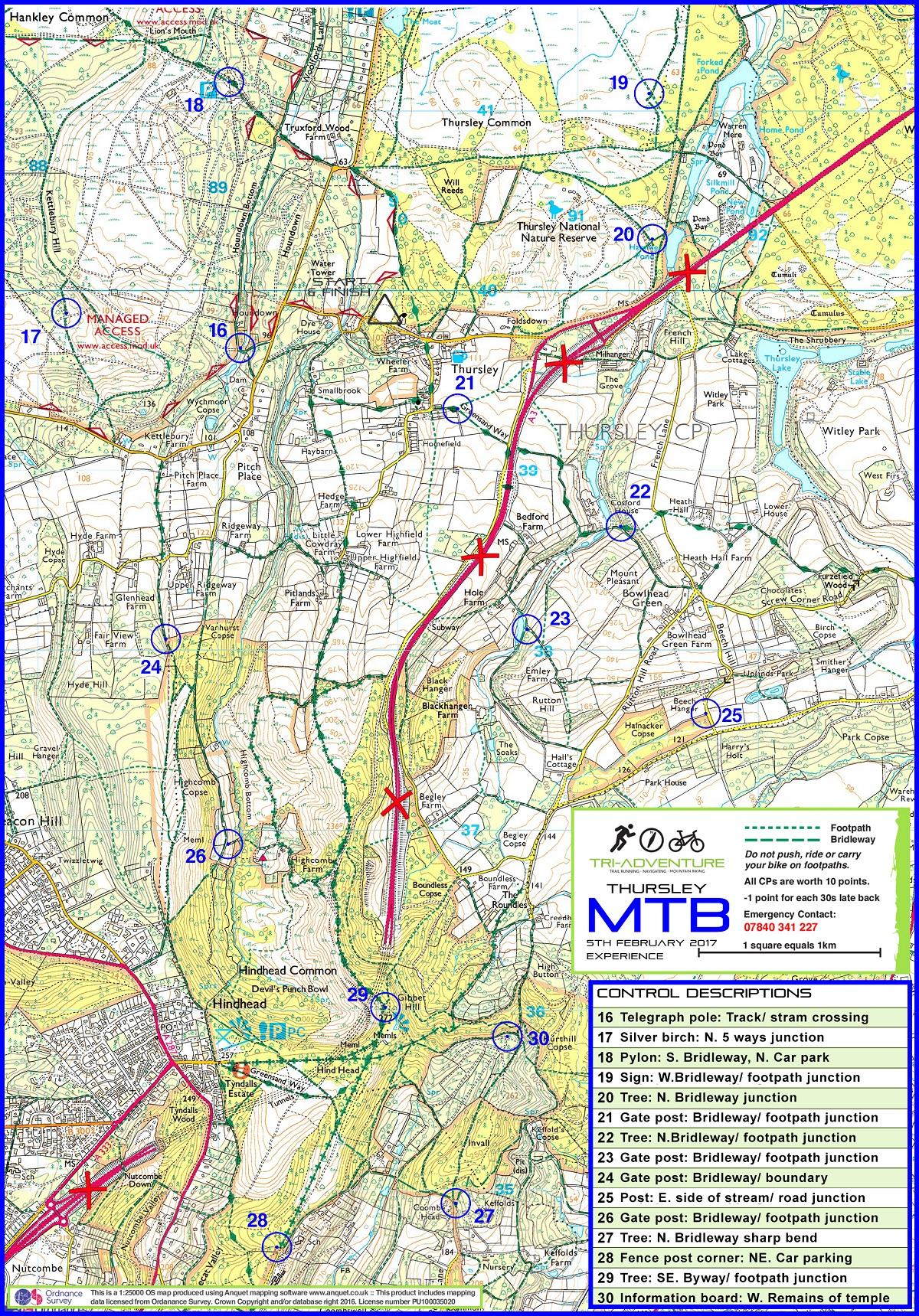 Experience Bike Map - Tri-Adventure